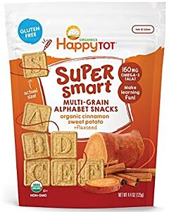 Happy Baby: Happy Tot Super Smart Multi-Grain Alphabet Snacks in Cinnamon Sweet Potato