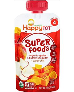 Happy Baby Organic Apples & Butternut Squash + Super Chia 120g (Stage 4) - 10% OFF!!