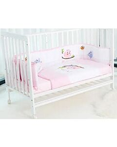 Happy Cot: Bedding Set - Happy Moments (Pink)  - 10% OFF!!