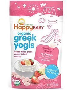 Happy Baby: Organic Greek Yogis Freeze-Dried Yogurt  - Strawberry & Banana