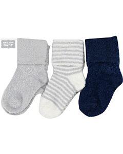 Hudson Baby: Baby Chenille Socks 3-Pack (6-12mths) (54625M) - 20% OFF!!