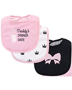 Hudson Baby Drooler Terry Bibs (3 pcs) (Daddy's Dinner Date) 56217CH - 20% OFF!!
