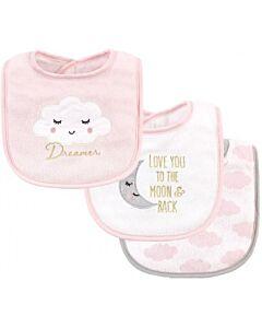 Hudson Baby Drooler Terry Bibs (3 pcs) (Dreamer) 56213CH - 20% OFF!!