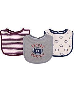 Hudson Baby Drooler Terry Bibs (3 pcs) (Future) 56211CH - 20% OFF!!