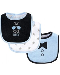 Hudson Baby Drooler Terry Bibs (3 pcs) (One Cool Dude) 56214CH - 20% OFF!!