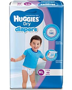 Huggies Dry Diapers XL48 (11-16 kg) Super Jumbo pack - 35% OFF!!