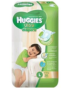 Huggies Ultra Diapers Super Jumbo (L50)