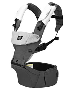 Abiie Huggs Baby Carrier with Patented Hipbelt (Grey) - 78% OFF!!