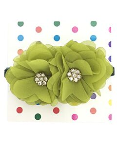 "Bows & Blings: Balsam Collection - Olive - M(16"") (from 4 - 9 months)"