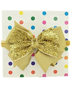 "Bows & Blings: Sirius Collection - Gold - S(13"") (from 0 - 3 months)"