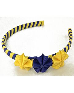 Bows & Blings: Mini Poppies Collection - Yellow Blue