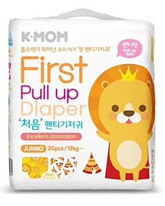 K-MOM First Pull Up Diaper Jumbo 20pcs (Up to 15kg) - 11% OFF!!