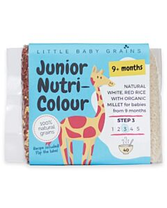 Little Baby Grains: Junior Nutri-Colour | Natural White, Red Rice with Organic Millet (From 9+ Months) - 11% OFF!!