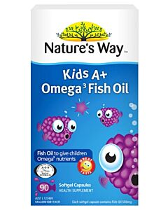 Nature's Way: Kid's A+ Omega 3 Fish Oil 90's (Softgel Capsules) - 28% OFF!!