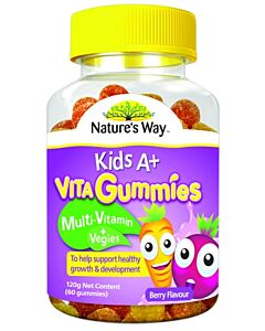 Nature's Way: Kid's A+ Vita Gummies Multi-Vitamin + Veggies 60's (Berry Flavour) - 18% OFF!!