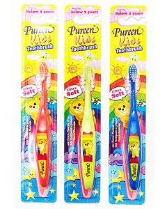 Pureen: Kids Toothbrush *Assorted Colour* - Below 2 Years Old  (0-2 yrs ) (Buy 2 Get 1 FREE!)