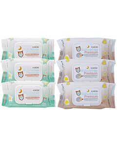 K-MOM Organic Premium Wipes with Lid 100s X 6 PACKS - 28% OFF!!