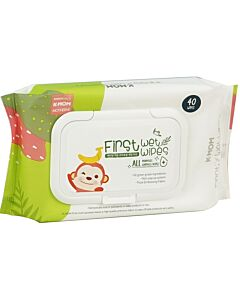 K-Mom : First Wet Wipes All Purposes Surfaces Baby Wipes 40pcs [1 pack] - 42% OFF!!