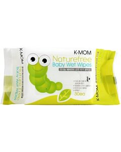 K-MOM Organic Portable Naturefree Wet Wipes 30s