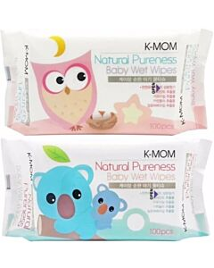 K-Mom: Naturefree Basic Baby Wet Wipes 100pcs (1 PACK) (BEST BUY)