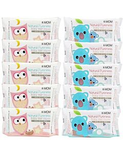 K-Mom: Naturefree Basic Baby Wet Wipes 100pcs X 10 PACKS