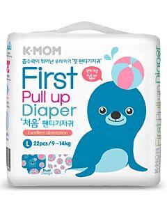 K-MOM First Pull Up Diaper L 22pcs (9kg - 14kg) - 11% OFF!!