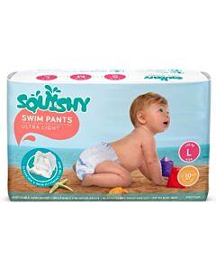 Squishy Disposable Swim Pants - L ( >12kg)(10 pieces)