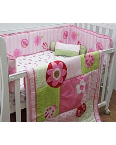 Happy Cot: Bedding Set - Ladybird & Flowers - 10% OFF!!