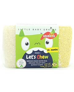 Little Baby Grains: Let's Chew | Medium Grain White Rice, Organic Millet with Quinoa Flakes (From 10+ Months) - 13% OFF!!