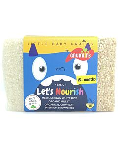 Little Baby Grains: Let's Nourish | Medium Grain White Rice, Organic Millet, Organic Buckwheat, Premium Brown Rice (From 15+ Months) - 14% OFF!!