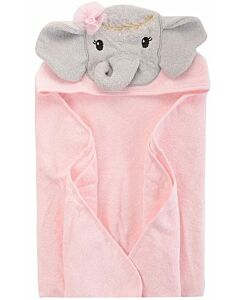 Little Treasure Animal Hooded Towel - Pink Elephant (00349) - 32% OFF!!