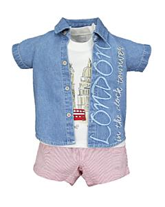 Wonder Child Collection: London Boy - Shirt/Top/Shorts (3 - 6 Mths) - 10% OFF!