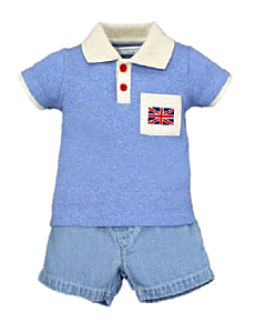 Wonder Child Collection: London Boy - Polo & Shorts (3 - 6 Mths) - 10% OFF!