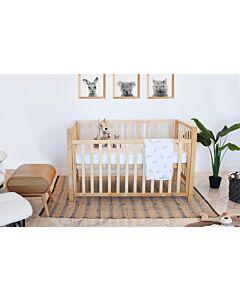 Babyhood: Lulu Cot (Beech) + My First Breathe Eze Innerspring Mattress + 5pcs Bedding Set - 26% OFF!!