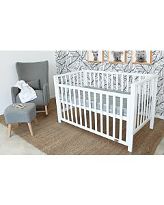 Babyhood: Lulu Cot (White) + My First Breathe Eze Innerspring Mattress + 5pcs Bedding Set - 26% OFF!!