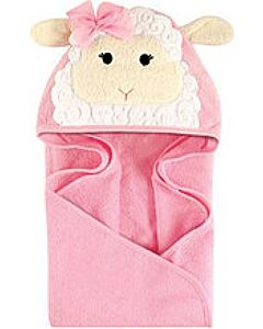 Luvable Friends: Animal Hooded Towel Embroidery (Lamb) *57077* - 20% OFF!!