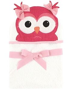 Luvable Friends: Animal Hooded Towel Embroidery (Owl) *57058* - 20% OFF!!