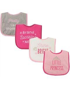 Luvable Friends: Drooler Bib - Little Princess - 4pcs (02398) - 20% OFF!!