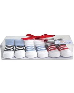 Luvable Friends Gift Set: Boy Baby Socks - 3 Pairs (07112) - 21% OFF!!