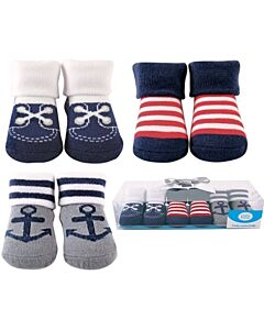 Luvable Friends Gift Set: Boy Baby Socks - 3 Pairs (07187) - 21% OFF!!