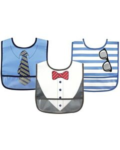 Luvable Friends: PEVA Easy Clean Bibs (Waterproof with Crumb Catcher) - 3pcs (02348) - 20% OFF!!