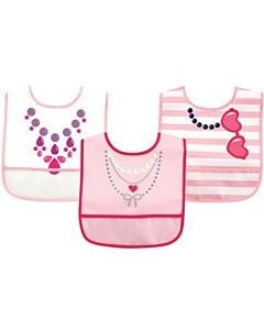 Luvable Friends: PEVA Easy Clean Bibs (Waterproof with Crumb Catcher) - 3pcs (02349) - 20% OFF!!