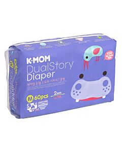 K-MOM Dual Story Diaper M 60pcs (7kg - 11kg) - 10% OFF!!