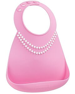 Make My Day: Baby Bib - Breakfast At Moms Pink - 20% OFF!!
