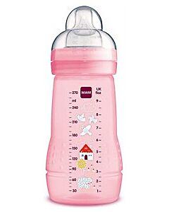 MAM Easy Active Baby Bottle 270ml/9.5oz - Teat 2 (Pink / Purple)