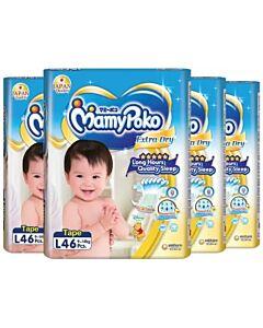 MamyPoko Extra Dry Skin Tape L46 (9kg ~ 14kg) *4 PACK BUNDLE*
