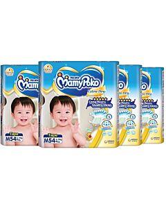 MamyPoko Extra Dry Skin Tape M54 (6kg ~ 11kg) *4 PACK BUNDLE*