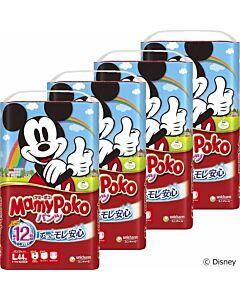 MamyPoko Disney Mickey Pants L44 (9-14kg) - 4 pack bundle