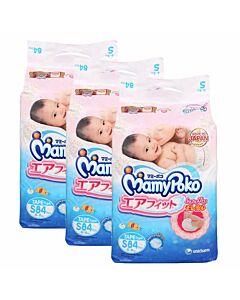 MamyPoko Open Air Fit (Tape) S84 (3-8kg) *3 pack bundle*