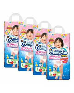 MamyPoko Air Fit Pants GIRL L44 (9-14kg) *4 pack bundle*